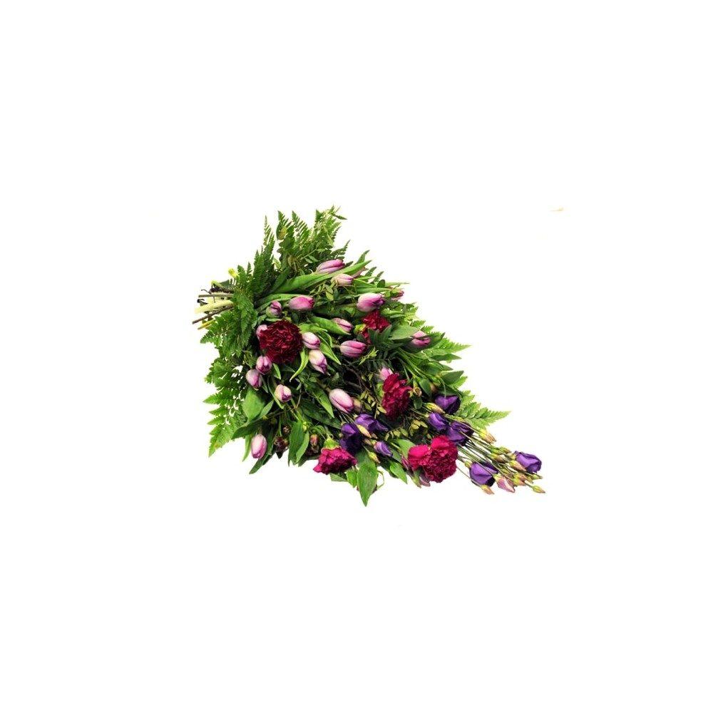 Begravningbukett i lila toner