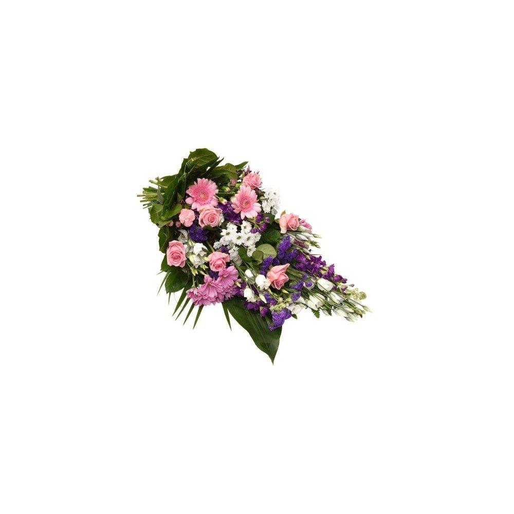 Begravningsbukett - Lila, Rosa & vit